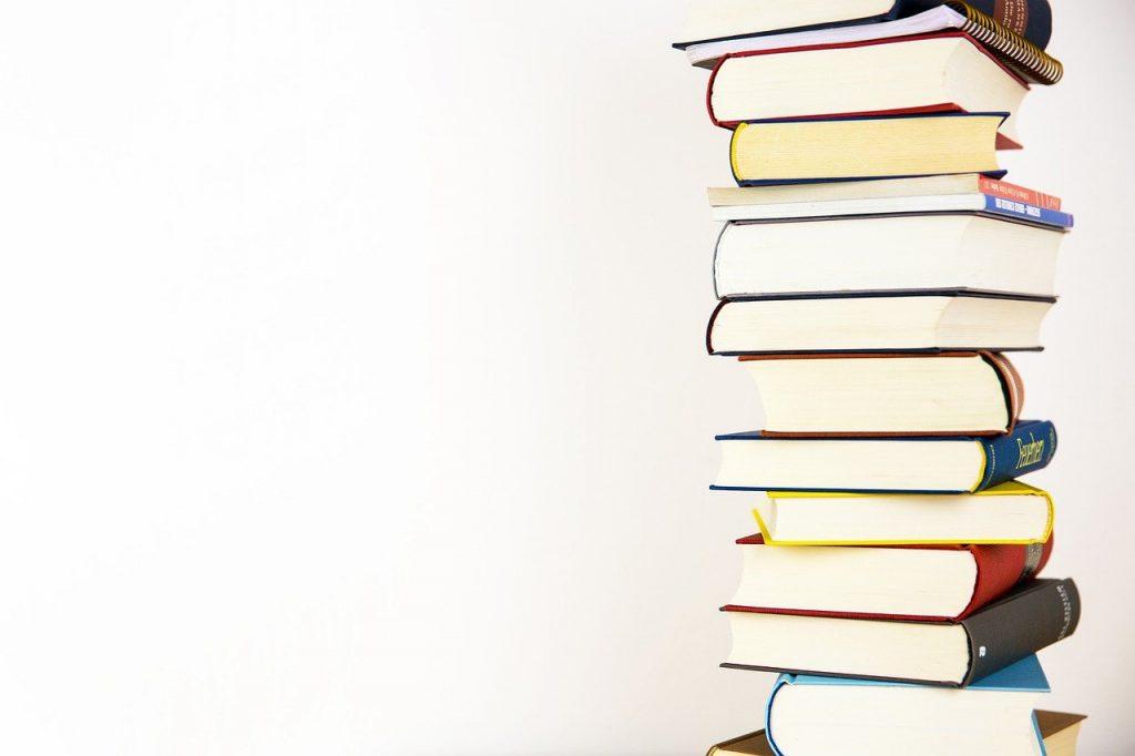 books, stack, literature