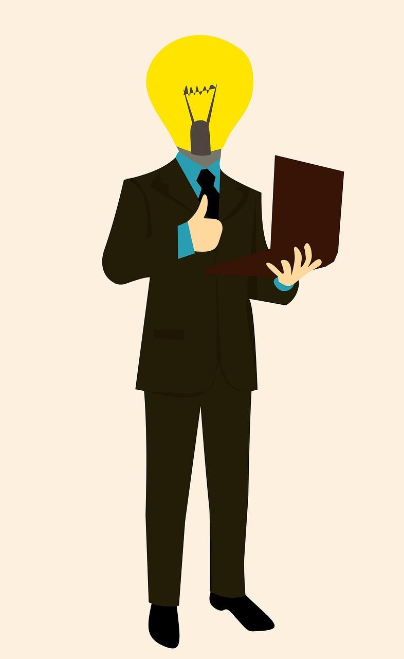 businessman, idea, thinking